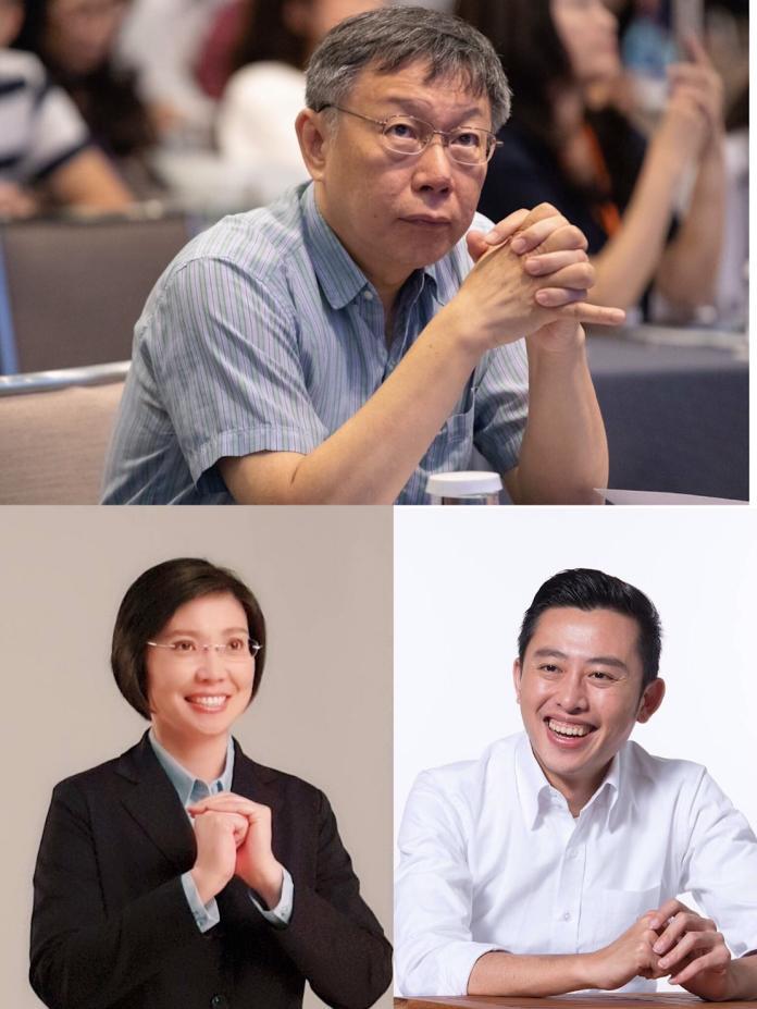 ▲若柯文哲(上)出馬參選總統,並找來徐欣瑩(下左)擔任副手,而蔡英文欽點林智堅(下右)搭檔搶攻年輕票,新竹地區將一舉出現三位正副總統參選人。(圖/翻攝自三人臉書粉絲頁)