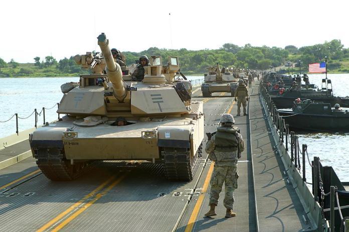 ▲美軍M1A2戰車參加演訓。(圖/美國陸軍)