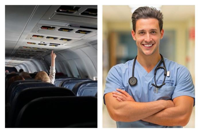 ▲近日在國外真的有一名乘客在飛機上休克發作,但幸運的是「全球最帥醫師」麥克( Mikhail Varshavski )剛好就在飛機上,立刻對他施以急救,將他從鬼門關前搶回來。(圖/翻攝自 unsplash 和 doctor.mike IG )