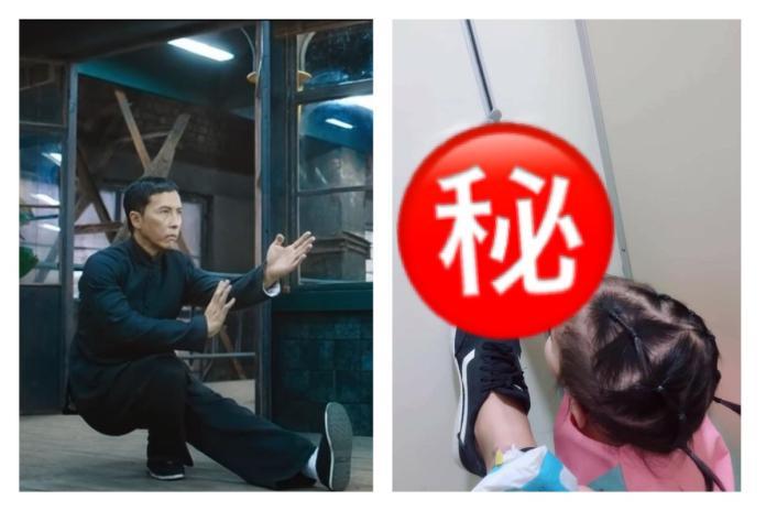 ▲媽媽帶女兒上廁所「一動作」眾人噴笑:練詠春?。(圖/翻攝自《爆廢公社》和 YouTube )