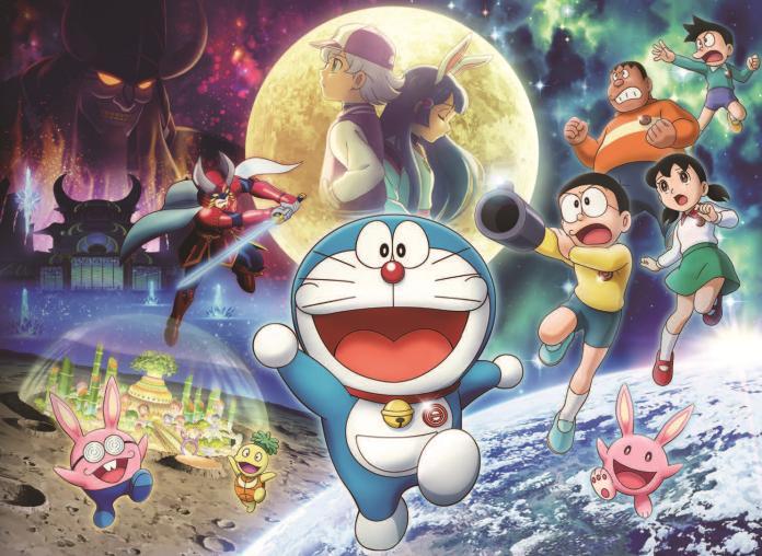 跟著哆啦A夢和<b>大雄</b> 一起前往月球探測吧!