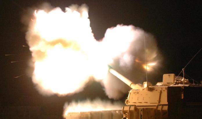 ▲美軍M109A6自走砲車射擊。(圖/美國陸軍)