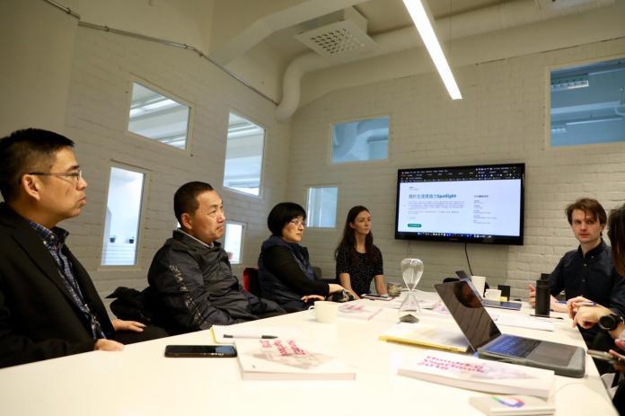 <br> ▲侯友宜今參訪芬蘭非營利組織HundrED,相當認同該組織的創新教育理念。(圖/新北市新聞局提供)
