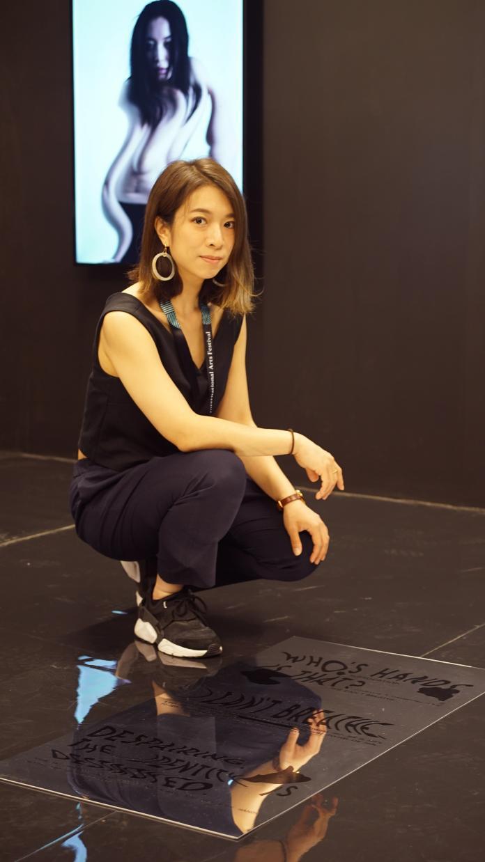▲臺灣首次應邀高威國際藝術節,由台灣新銳藝術家趙安玲的作品《平行意識》代表參展。(圖/文化部提供)