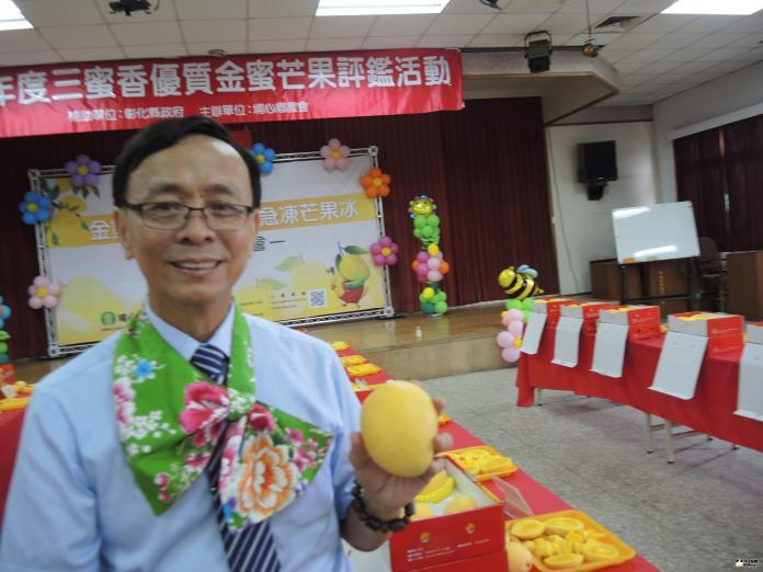 <br> ▲埔心鄉農會舉辦金蜜芒果評鑑大賽。(圖/記者陳雅芳攝,2019.07.19)