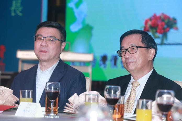 ▲民進黨黨主席卓榮泰出席台灣北社18周年募款餐會和前總