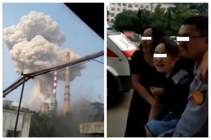 ▲今(19)日下午 5 時許,位於中國大陸河南三門峽義馬市的一座氣化工廠驚傳大爆炸,傷亡人數不明。(圖/翻攝自微博)
