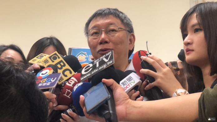 台北市長柯文哲接受媒體訪問
