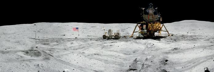 ▲施密特更表示「在月球上看到雲彩旋轉的藍色地球,和自己距離只有 25 萬英里,總會令我想起家」。(圖/翻攝自 NASA )