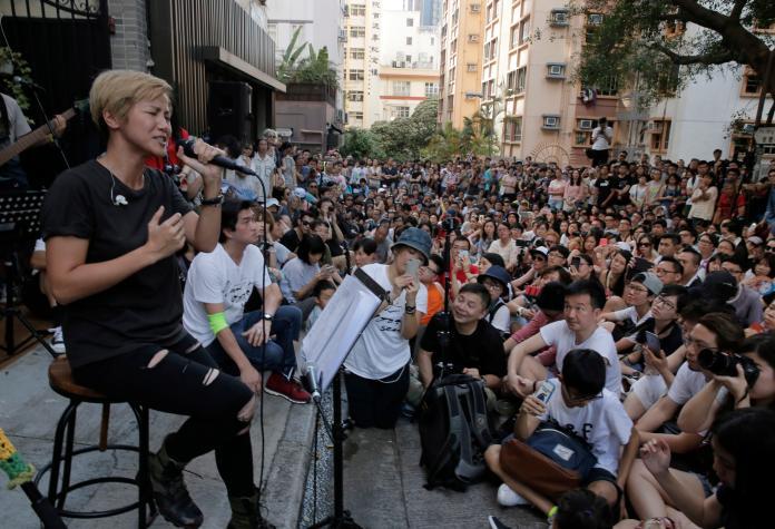 <br> ▲何韻詩積極參與香港的社會運動。(圖/美聯社/達志影像)