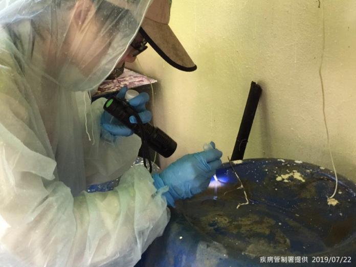 圖-疾管署防疫人員於台南市東區執行病媒孳生源查核