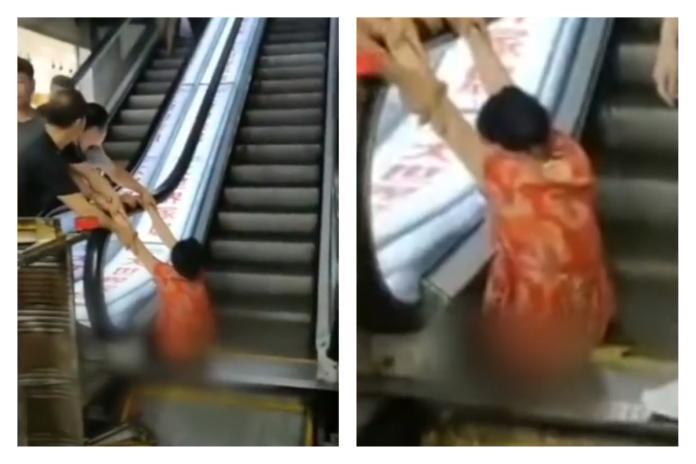 手扶梯會「吃人」?婦下半身卡住忍痛30分鐘 後果超慘