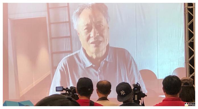 ▲李安特別錄製影片,恭賀「中台灣影視基地」開幕。(圖/記者翁新涵攝)