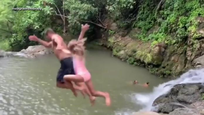 ▲湯姆布雷迪帶女兒跳水出槌的短片在社群上引起討論。(圖/翻攝網路)