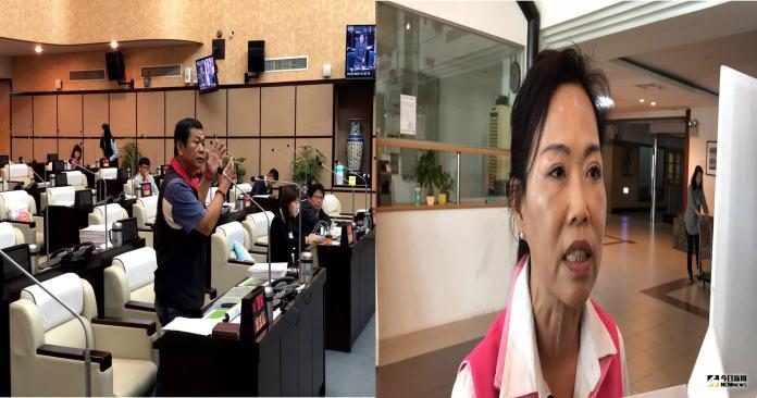 台南市議員盧崑福(左)、林美燕,痛斥市黨部立委提名黑箱作業,卻遭市黨部狠打臉。