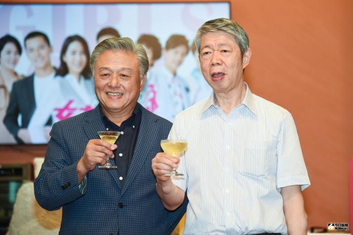 TVBS董事長張孝威(右)。(圖/記者陳明安攝,2019.07.24)