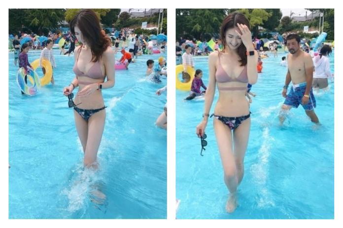 ▲日本網友在兒童泳池遇見超正比基尼辣媽,驚為天人。(圖/翻攝自2ch網站)