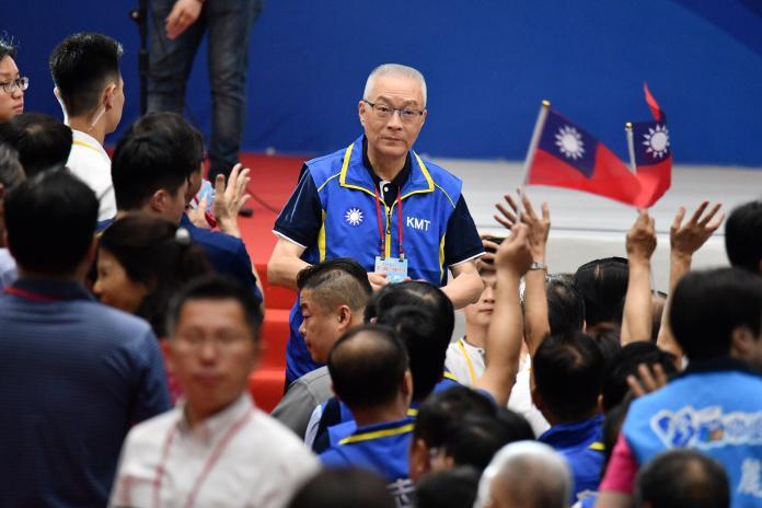 國民黨主席吳敦義28日出席全代會。(圖 / 記者林柏年攝,2019.07.28)