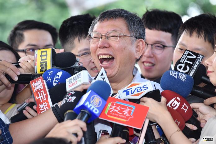 台北市長柯文哲(圖/記者林柏年攝,2019,07,29)