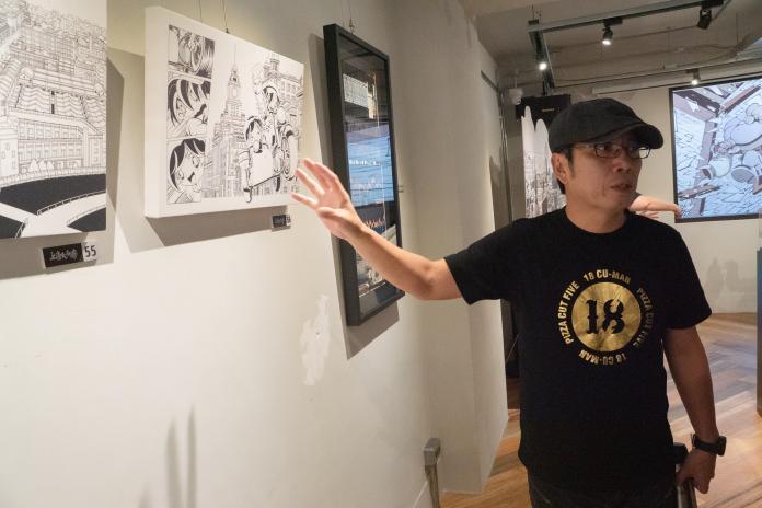 ▲漫畫家黃熙文創作原畫展在台灣漫畫基地開展。(圖/文化部提供)