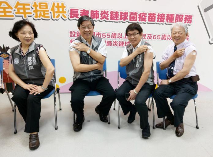 桃園原民老人接種疫苗