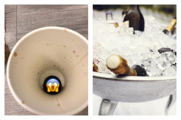 ▲說好的去冰在哪?喝完飲料驚現「黑色謎之冰塊」萬人嚇瘋。(圖/翻攝自 Dcard 和 pixabay )
