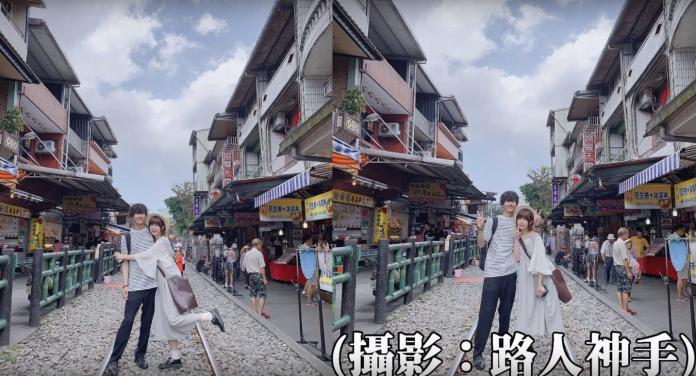 <br> ▲ Youtuber RU 的日籍男友文當,相當期盼能來到十分老街放天燈。(圖/取自強運少女 RU Youtube )