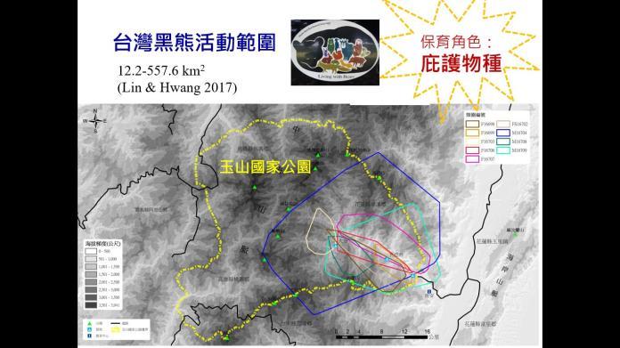 台灣黑熊活動範圍