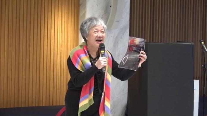 蔣渭水孫侄女、蔣渭水文化基金會副執行長蔣理容