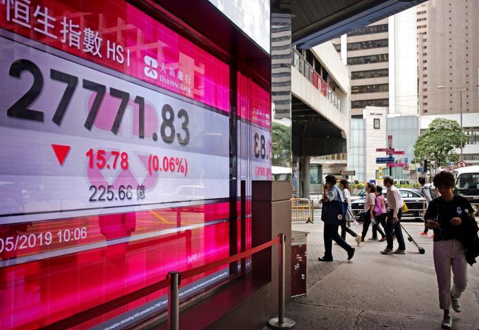 ▲港股5日開盤再跌逾500點。資料照。(圖/美聯社/達志影像)