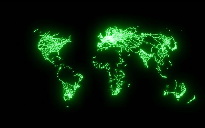 酷到歪頭!螢光地圖「亮點線條」 建設如<b>血管</b>分佈超驚豔