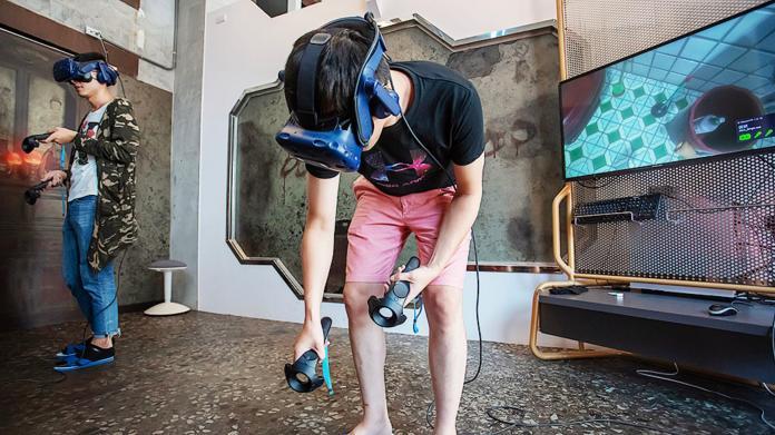 ▲〈三魂VR〉為台灣原創的恐怖互動VR作品。(圖/高市電影館提供)