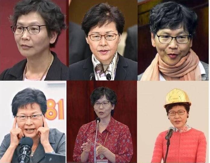 網路流傳「猜猜誰是林鄭月娥、誰是蔡壁如」圖片。( 圖 / 翻攝網路 )