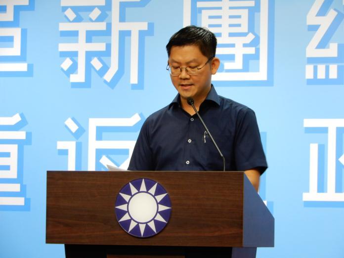 國民黨發言人華心華表示,吳敦義在中常會上裁示,全黨要幫韓國瑜「說話」。(圖 / 記者陳弘志攝,2019.08.07)