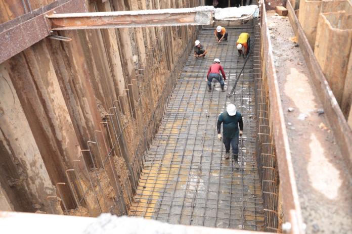 ▲基隆八堵路雨水下道改善工程進展度。(圖/基隆市政府提供)