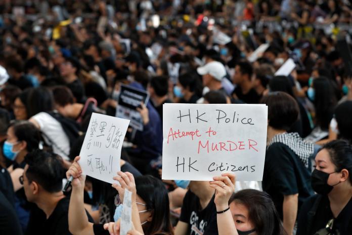 ▲香港持續動亂,北局當局指控有外部勢力介入。(圖/美聯社/達志影像)