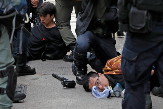 ▲香港的「811反送中示威」全城濺血。(圖/美聯社/達志影像)