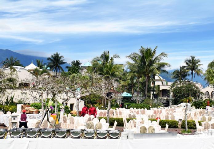 ▲理想大地的戶外婚宴場地,一直都是預計結婚的新人們所青睞的飯店之一,可以感受到花蓮的湖光山色的美景。(圖/理想大地提供)