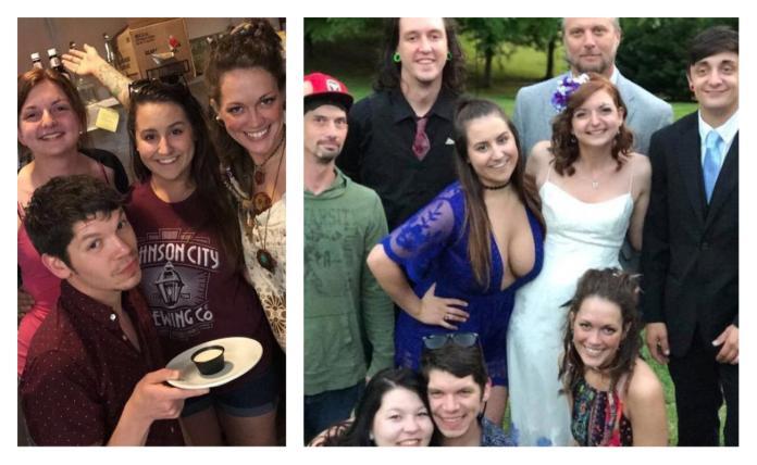 ▲當事人放上近期照片(左)澄清兩人是超級好姊妹,婚禮合影(右)是 2 年前的事了。(圖/翻攝自 Reddit )