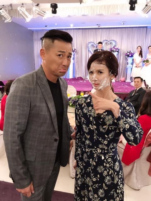 <br> ▲江宏恩在劇中與陳小菁扮演壞人角色。(圖 / 翻攝臉書)