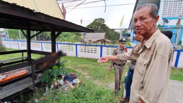 ▲泰國一名男子喝 30 度烈酒配榴槤,猝死於路邊涼亭。(圖/翻攝自 thairath )