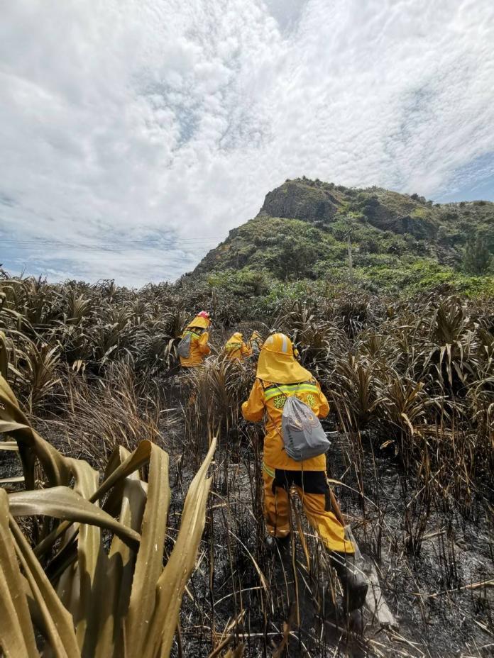 ▲綠島森林大火燒毀近28公頃。(圖/台東林管處提供)