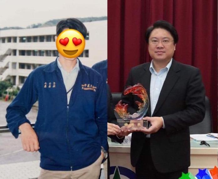 ▲臉書上驚現了基隆市長林右昌年輕時的照片,引來大量網友紛紛議論。(圖/翻攝自《貓與邪佞的手指》)
