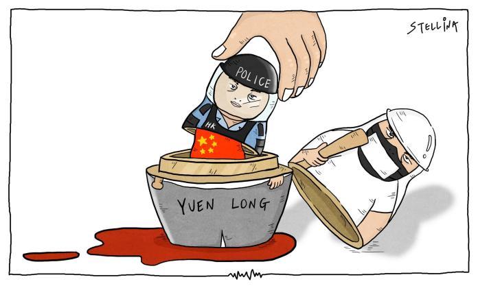 台灣<b>插畫</b>家諷刺香港反送中 被登上法國《世界報》
