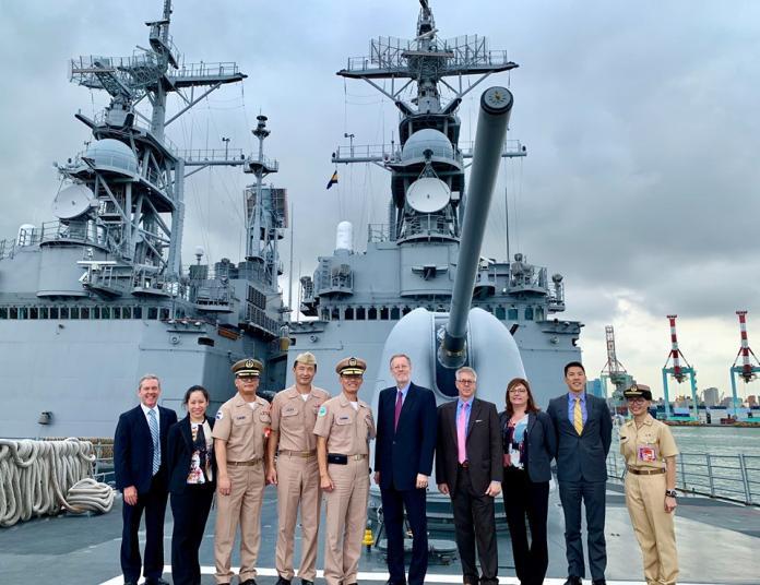 訪左營軍港登<b>紀德艦</b> 酈英傑讚:台美共同維護航行自由