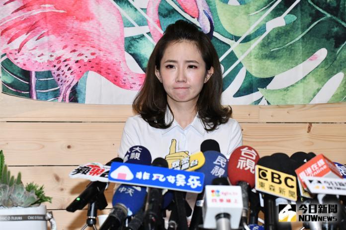 ▲偷吃風波後謝忻首次露面道歉。(圖/記者林柏年攝2019.08.21)