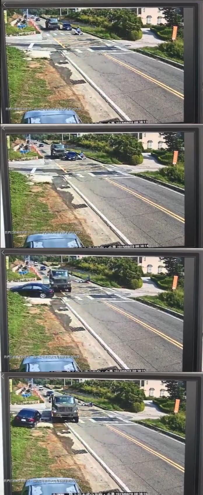 轎車<b>超車</b>打滑甩尾180度險撞機車 網友批:急著投胎?
