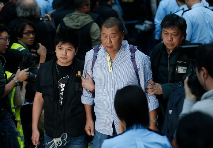 ▲香港壹傳媒集團創辦人黎智英,因為聲援反送中,而被北京及親中媒體指為漢奸,對此他表示,自己雖是麻煩製造者,但有良心。資料照。(圖/美聯社/達志影像)