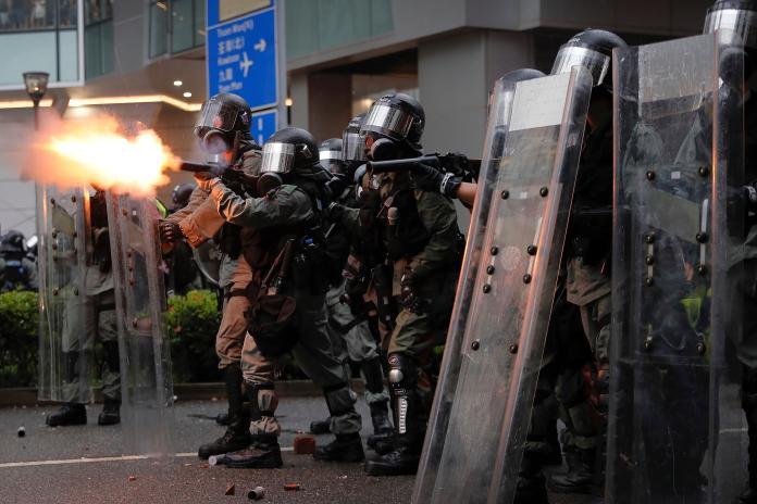 <br> ▲香港反送中集會遊行。(圖/達志影像/美聯社)