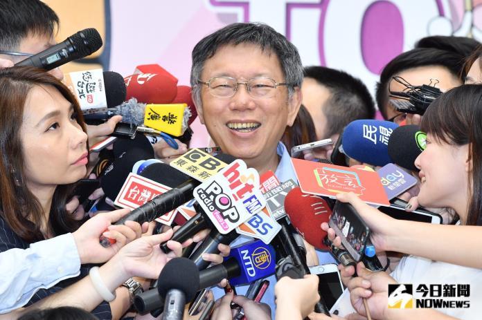 ▲台北市長柯文哲接受媒體訪問。(圖/林柏年攝, 2019.8.26)